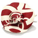 Chanel Red Camellia Brooch