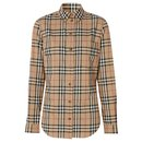 BURBERRY Button-down Collar Vintage Check Stretch Cotton Shirt - Burberry