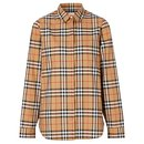 BURBERRY Vintage Check Cotton Oversized Shirt - Burberry