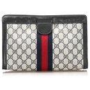Pochette Gucci Grise GG Supreme Web