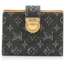 Louis Vuitton Black Monogram Denim Agenda PM