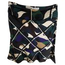 Céline fluid skirt with multicolored graphic print