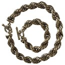Sterling silver necklace and bracelet - Autre Marque