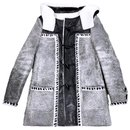 14K$ shearling hooded coat - Chanel
