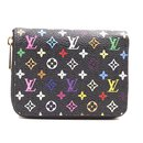 Louis Vuitton Black Multicolor Monogram Square Wallet