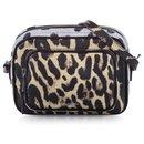 Burberry Brown Animal Print Leather Crossbody Bag