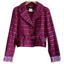 Chanel tweed fuchsia blazer