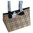 BURBERRY Austen House-check canvas tote bag - Burberry