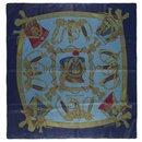 "Hermès Hermesmatic scarf in silk twill printed ""Grand Uniforme"""