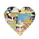 Hermes La Patisserie Francaise heart Womens scarf multi color - Hermès