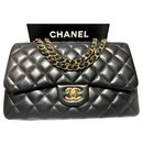 Chanel Black Jumbo classic flap bag GHW