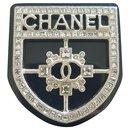 Chanel Crystal Crest Shield Badge