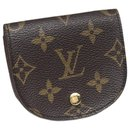 Louis Vuitton Brown Monogram Porte Monnaie Gousset Coin Pouch