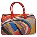 Multicolored satchel bag + detachable clutch bag - Emilio Pucci