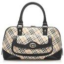 Burberry Brown Nova Check Canvas Handbag