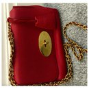 Mulberry Red Lily Leather Crossbody Bag