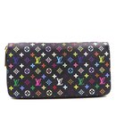 Louis Vuitton Black Monogram Multicolore Zippy Long Wallet