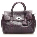 Mulberry Purple Bayswater Leather Satchel