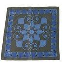 LANVIN 100% Silk Blue Floral Men's Pocket Square Scarf , Superb - Lanvin