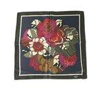 LANVIN 100% Silk Blue Multicolor Floral Men's Pocket Square Scarf , Superb - Lanvin