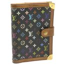 LOUIS VUITTON Multicolor Agenda PM Day Planner Cover Black R20895 Auth yk561 - Louis Vuitton