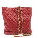 CHANEL Lamb Skin Matelasse Chain Shoulder Bag Red CC Auth br133 - Chanel