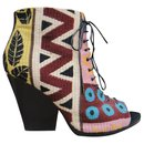 Burberry p open toe boots 38
