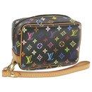 LOUIS VUITTON Multicolor Trousse Wapity Pouch Bag Black M58034 LV Auth hk055 - Louis Vuitton