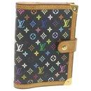 LOUIS VUITTON Multicolor Agenda PM Day Planner Cover Black R20895 Auth mt115 - Louis Vuitton