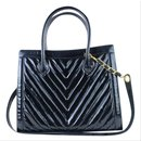 Quilted Chevron 2way Tote Patent - Chanel
