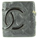 Black Quilted Cambon Ligne Compact Wallet 3C11117 - Chanel