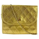 Gold Quilted Leather Mini Flap 19cca1117 - Chanel