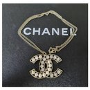 Chanel Crystal Pearl Large CC Pendant Necklace