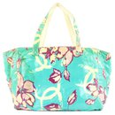 Blue Floral Shopper Tote Bag - Chanel