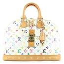 Rare White Monogram Multicolor Alma GM Bag - Louis Vuitton