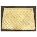 Clutch / golden chanel bag - Chanel