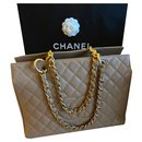 Chanel Taupe Caviar grand shopping tote GHW