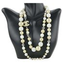 03A Crystal Stone Pearl Necklace - Chanel
