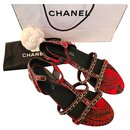 Python and chain sandals - Chanel