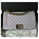 Chanel Iridescent calf leather Medium Boy Bag