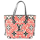 Sac cabas Louis Vuitton Limited Monogram Crafty Neverfull MM rouge