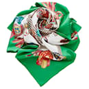 Hermes Green Les Rubans du Cheval Silk Scarf - Hermès