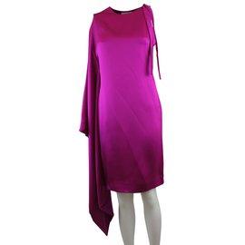 Christian Dior-Robe en soie style kimono-Rose