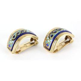 Michaela Frey-Earrings-Blue,Multiple colors,Golden,Green