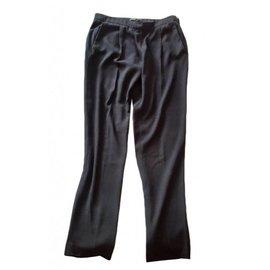 Maje-Pantalon noir matière fluide-Noir