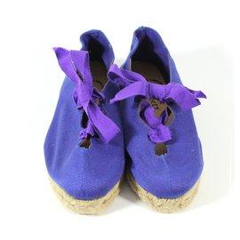 Hermès-Espadrilles Bleues-Bleu