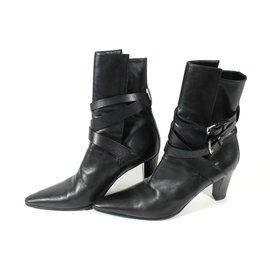 Hermès-Bottines Hermès-Noir
