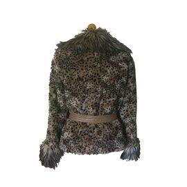 Balmain-Fourrure-Imprimé léopard
