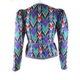 Yves Saint Laurent-Veste vintage YSL-Multicolore