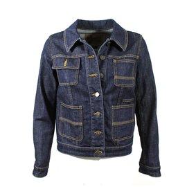 Louis Vuitton-Belle veste Jean-Bleu